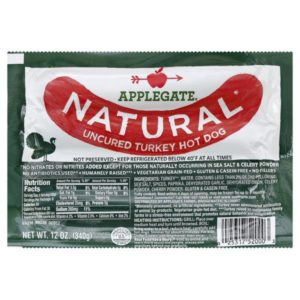 Applegate Natural Hot Dog, Uncured, Turkey